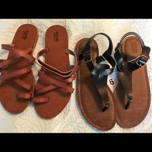 Two pairs NWT Mossimo Sandals